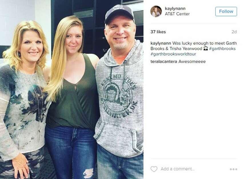 @kaylynann: Was lucky enough to meet Garth Brooks & Trisha Yearwood