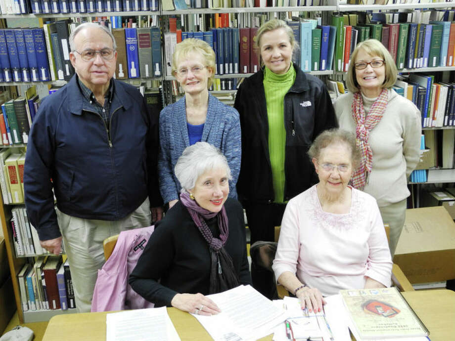 The Hi-Plains Genealogical Society recently met at Unger Memorial Library. Standing: Boyce Bryan (left), Theresa Dunlap, Kim Horne, Linda Shipp Seated: Carolyn Courtney and June Wells Photo: Gail M. Williams | Plainview Herald