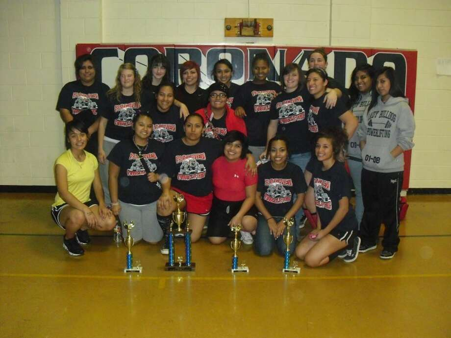 The PHS girls power lifting team finished first at the Plainview meet held Saturday. The Bulldogs also came in first.