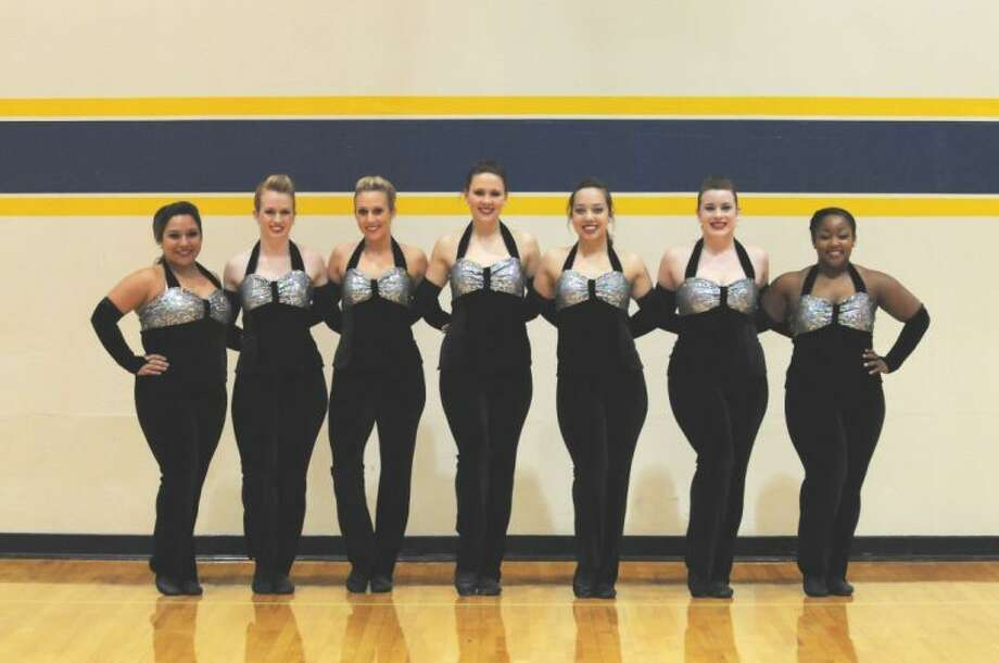 Wayland Baptist dance team members (from left) Julie Garcia, Kyli Smith, Courtney Floth, Ashley Stewart, Kristel Logan, RaeLeigh Hust and Triston Johnson will travel to Oklahoma City this weekend for the NAIA Mid-South Regionals competition. Photo: Wayland Baptist University Photo