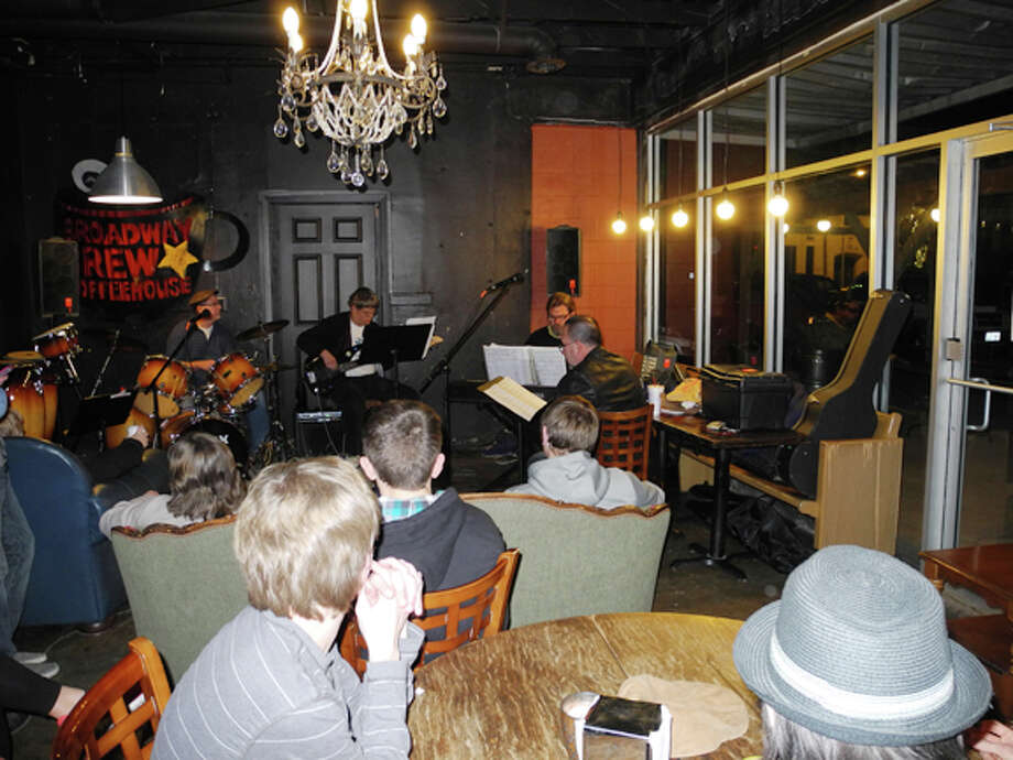 """The Sweeneys,"" a jazz ensemble organized by Dr. Kevin Sweeney of Wayland Baptist University, entertained the crowds Friday night at The Brew for the We Love Plainview Event. Photo: Gail M. Williams 