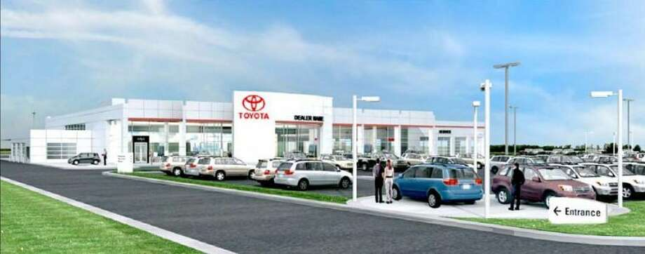 The new Reagor Dykes Toyota, at 1220 S. Interstate 27, will be based on this Toyota Image II U.S.A. conceptual drawing. Construction on the multi-million-dollar project is scheduled to begin in the third quarter of 2013. According to co-owner Bart Reagor, the pheonominal growth in local Toyota sales is prompting the move to establish a stand-alone Toyota franchise, separate from the current Reagor Dykes Ford Lincoln dealership at 808 N. I-27. Photo: Toyota Motor Sales U.S.A. Illustration
