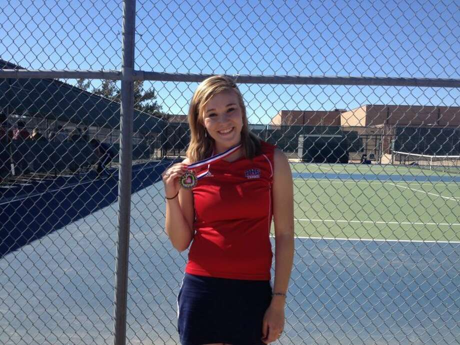 After dropping her opening round, Dusti Boedecker went on a hot streak to take the consolation final at the Canyon Randall Tennis Meet. Photo: Courtesy Photo