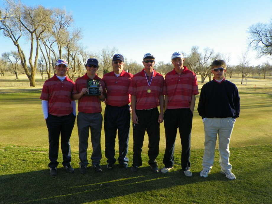 The Plainview boys' golf team took third at the Plainview Invitational over the weekend. Pictured above is Riley Alford, Harrison Alford, coach Mike Lewis, Matt Jolly, who finished third as a individual medalist, Trent Kinkaid, Brock Walker. Photo: Homer Marquez/Plainview Herald