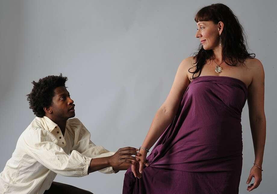Narciso (Nican Robinson) andLove (Susan-Jane Harrison). Photo: Eric Gillett, Local Dystopia