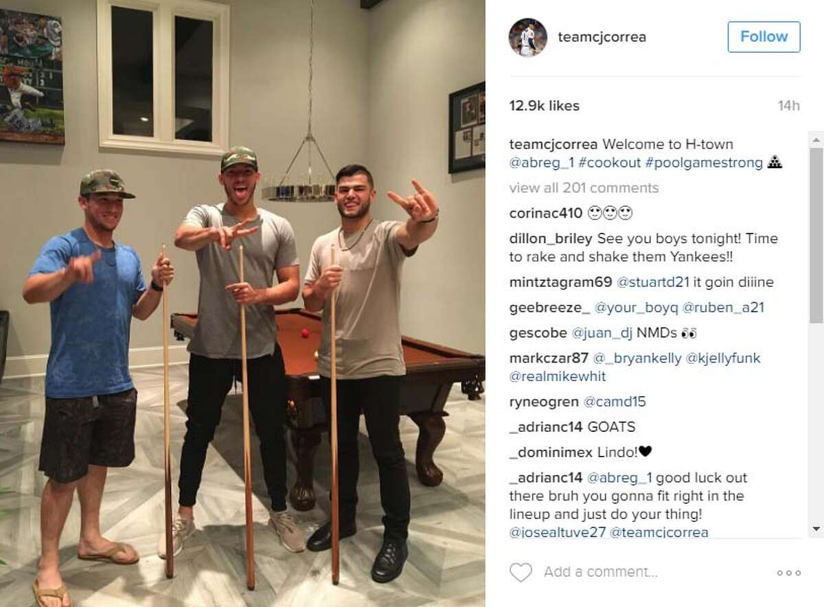 Promotion party in Houston Bregman was called up to Houston on July 24, 2016, flew in that night and immediately got a text from Carlos Correa inviting him to come over for dinner and to hang out with Correa and Lance McCullers the night before his debut.