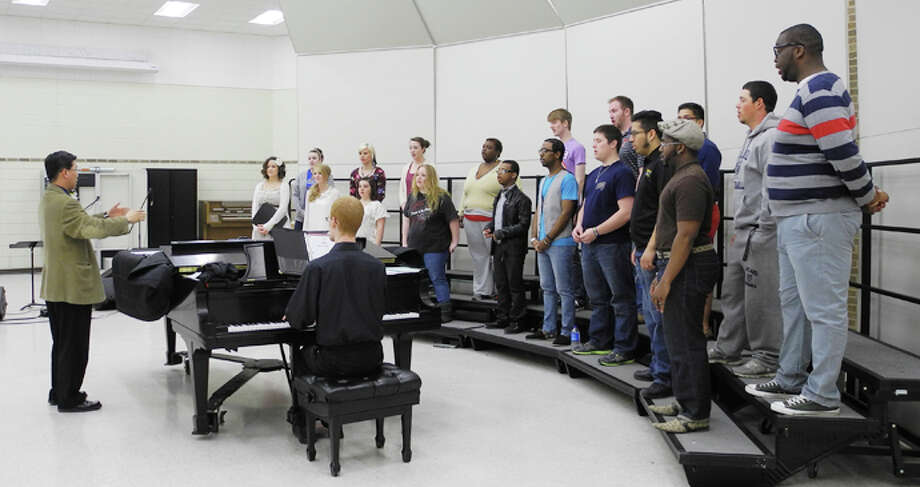 The Wayland International Choir rehearses in preparation for their tour. Photo: Gail M. Williams | Plainview Herald