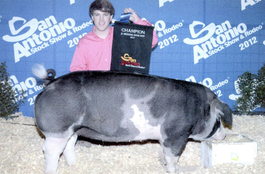 Courtesy PhotoFloyd County 4-H member Braden Graves exhibited the Champion Spot Gilt pig and received a $10,000 scholarship from the San Antonio Stock Show and Rodeo. He is a sophomore at Plainview Christian High School.
