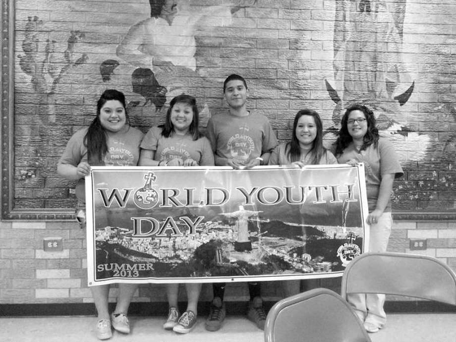 After working a year and half for their ticket, Scared Heart Church members Sandi Reyes, Breanne Quintanilla, Gabriel Sierra, Kristen Galvan and Lydia Sanchez have earned their trip to the 2013 World Youth Day in Rio de Janeiro, Brazil. Photo: Homer Marquez/Plainview Herald