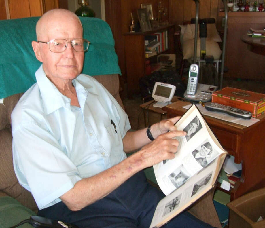 Long-time Plainview resident World War II veteran Jessie Rollins, 90, reflects on his time served in Sicily, Naples-Foggia and Rome. Photo: Shanna Iverson/Plainview Herald