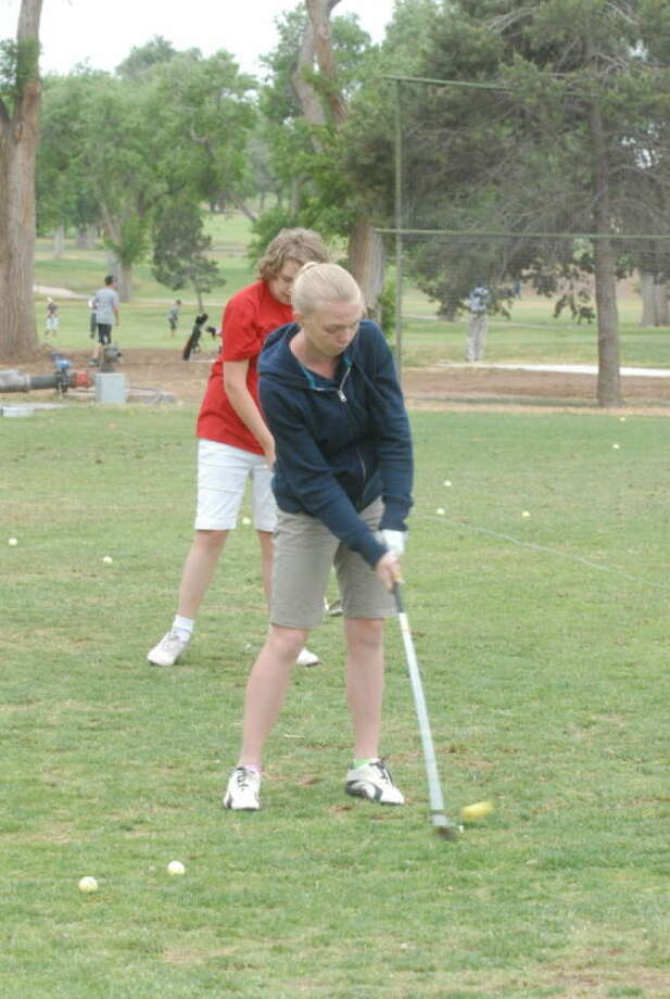 Abby Hill was the Most Outstanding Golfer and won the tournament in the girls 13-15-year-old division at the Plainview Junior Golf Camp at Plainview Country Club Thursday. Photo: Skip Leon/Plainview Herald