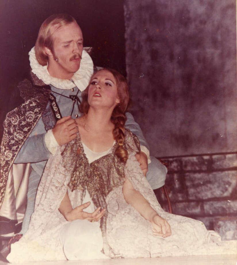 "Sarah Peek Newcome plays Violeta to Ed Quillin's Germont in ""La Traviata"" by Giuseppe Verdi. Photo: Courtesy Photo"