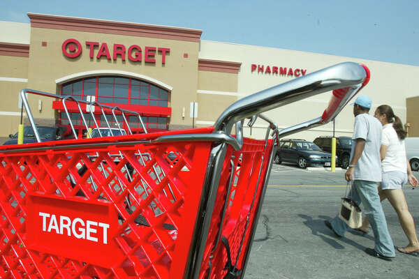 SPRINGFIELD, VA - AUGUST 14:  Customers walk outside a Target store August 14, 2003 in Springfield, Virgina. Target Corp. reported a four percent increase in second-quarter profits.   (Photo by Alex Wong/Getty Images)