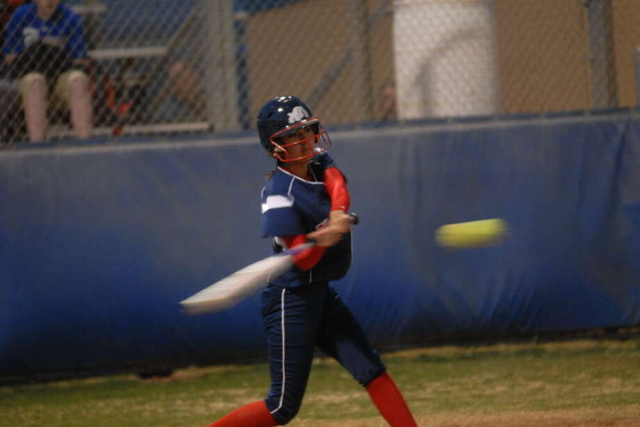 Plainview's Criselda Luna makes contact during a recent game. Photo: Homer Marquez/Plainview Herald