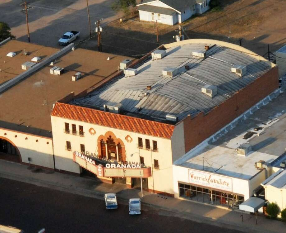 The historic Granada Theater, seen in this aerial photo taken in August 2012, has been a Plainview landmark since it was built in 1929. Though the building is currently in a state of neglect and disrepair, the Holland family in Lubbock has plans to restore it to its former splendor. Businessman Darryl Holland has close ties to Plainview, and like so many others in multiple generations, he holds cherished childhood memories there.