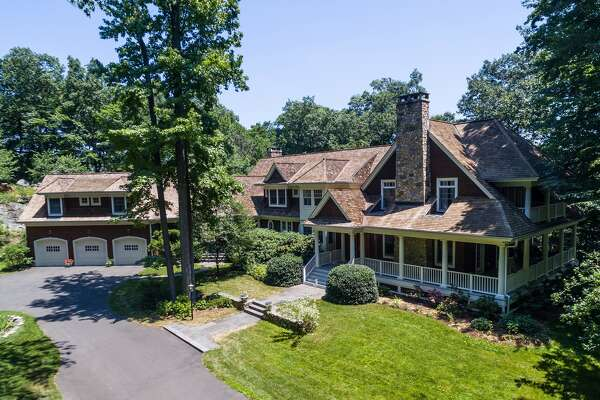 This 6,800-square-foot colonial that sits on 1.88 acres of property on Gorham's Pond in Darien, Conn. is on the market for $3,975,000.