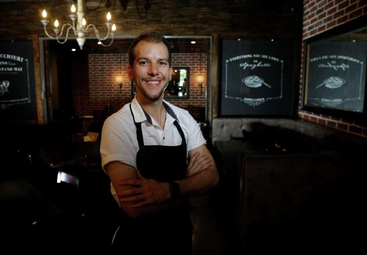 Chef William Wright poses at Arthur Ave Italian American, 1111 Studewood.