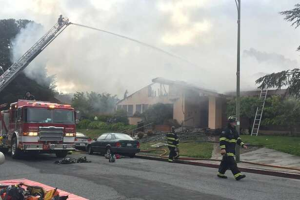 Dozens of firefighters battled an early morning blaze Thursday that destroyed the Millbrae Community Center.