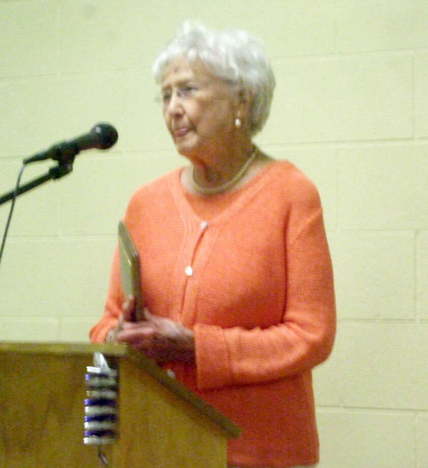 Corrine Gibson was the recipient of Citizen Through the Years. The winner of Citizen of the Year, Dr. Jack Jordan, could not attend the banquet. Photo: Jessica Thornton/Plainview Herald