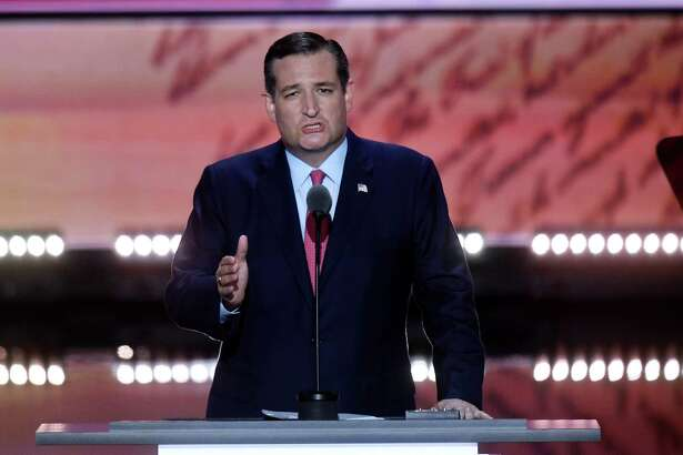Texas Sen. Ted Cruz speaks during the third day of the Republican National Convention in Cleveland on July 20. He refused to endorse GOP nominee Donald Trump and was jeered as a result. But he was in the right.
