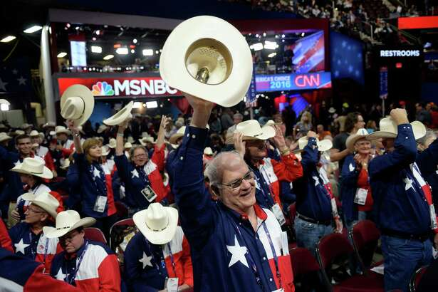 The Texas delegation to the GOP convention last week shows its enthusiasm. Republicans say they favor smaller government, while demanding that government powers intervene in more and more areas of American life.