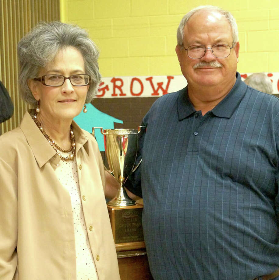 Kay Martin and Archie Jones (above) were honored as Citizen of the Year and Man of the Year for their commitment to and their willingness to volunteer for various Lockney organizations and efforts. The Lockney Girl Scouts (below) were awarded Organization of the Year at Saturday's Lockney Chamber of Commerce. Photo: Jennifer Harbin/Floyd County Hesperian-Beacon