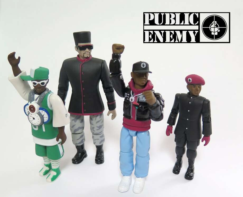 Hip-hop group Public Enemy has been immortalized in a set of action figures. Photo: Aggronautix