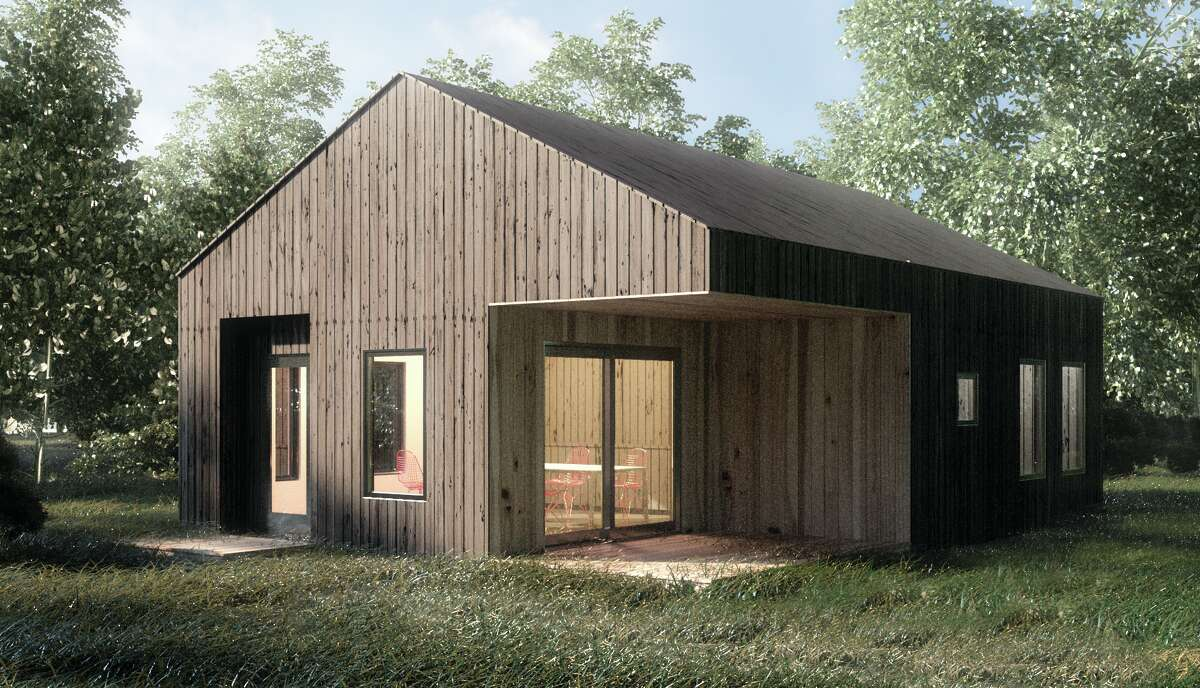 Rising Barn's 24 X 34, 600-square-feet floor plan provides an outdoor dining experience and