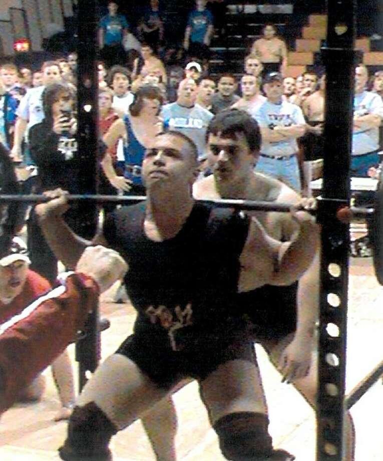 Angelo Samarripa leads the Bulldog powerlifting team into Saturday's state meet in Abilene.