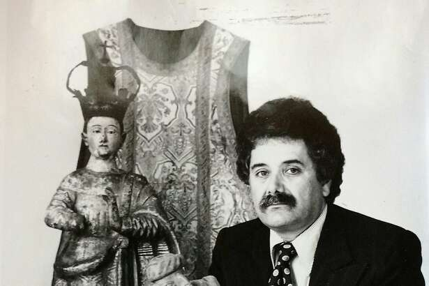 An undated photograph of Mexican Museum founder Peter Rodriguez during the period (1975-85) he served as executive director.