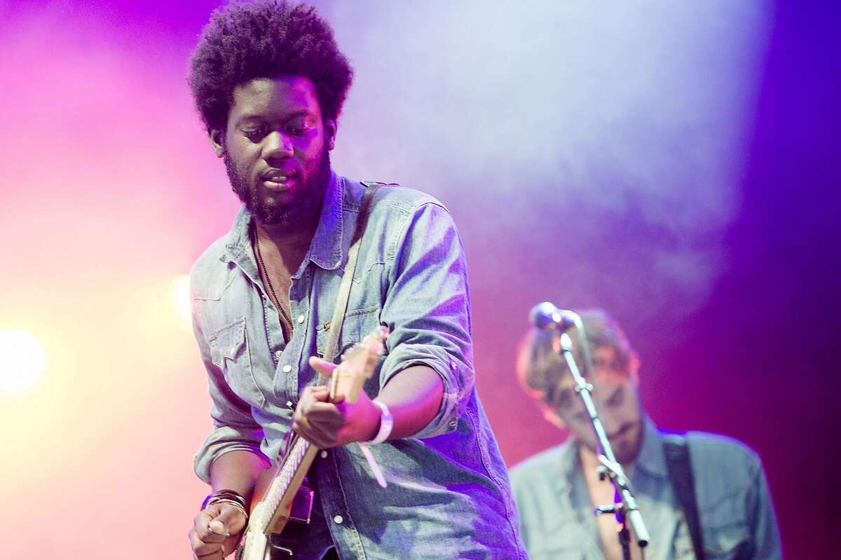 (FILES) This file photo taken on August 17, 2013 shows British soul singer Michael Kiwanuka on stage during the second day of the Lowlands festival in Biddinghuizen. Kiwanuka releases a new album on July 15, 2016. / AFP PHOTO / ANP / Ferdy DammanFERDY DAMMAN/AFP/Getty Images