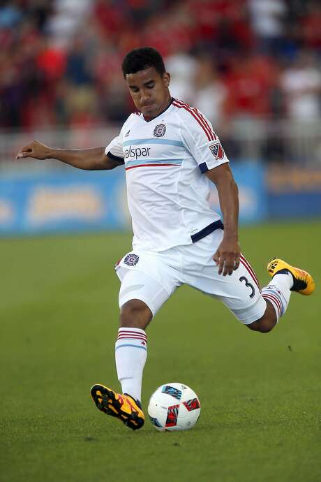 Brandon Vincent plays professional soccer for the Chicago Fire after graduating from Stanford in December 2015. Photo: John E. Sokolowski, Courtesy Of Chicago Fire Soccer Club