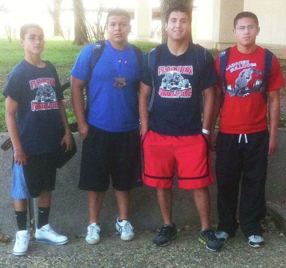 Powerlifters Ivan Antuna (left), Angelo Samarripa, Adrian Gonzales and Pablo Jimenez.