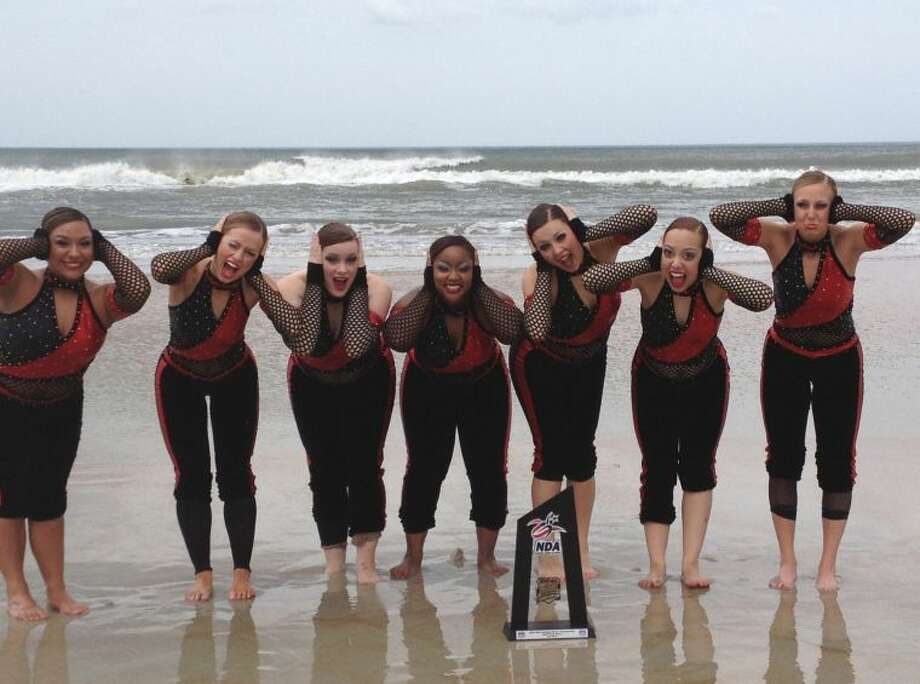 WBU's Dance team enjoys the beach after taking third at the national championship in Daytona Beach Fla. Photo: Wayland Baptist University