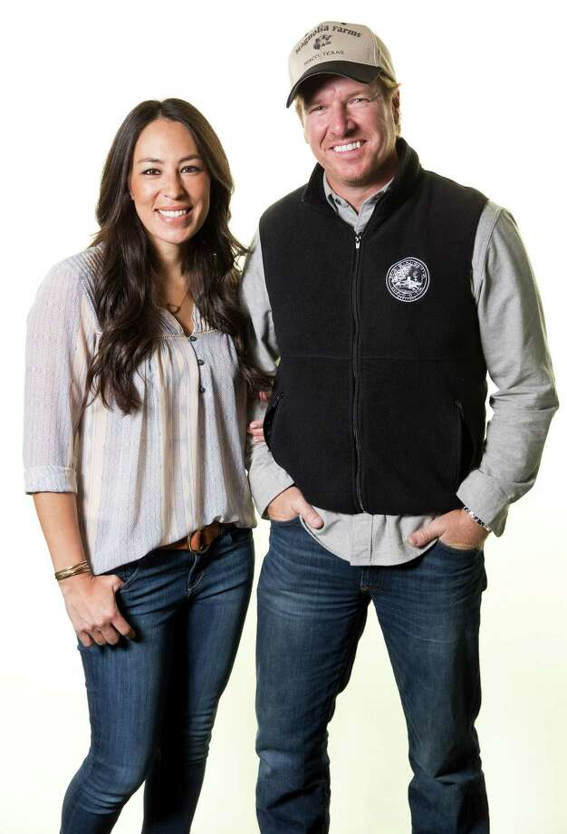 """In this March 2016 photo, Joanna Gaines, left, and Chip Gaines pose for a portrait in New York to promote their home improvement show, """"Fixer Upper,"""" on HGTV. On April 26, 2017, Chip Gaines' two former business partners sued him in state district court, alleging that he knew but did not tell them the show was about to be promoted nationally when he bought out their interests.>>Keep clicking for a virtual tour of Magnolia market. Photo: Brian Ach, INVL / Invision"""