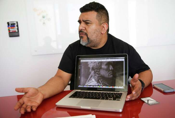 Lupe Mendez talks about his issues with a controversial textbook proposed for Mexican American studies on  Monday, July 18, 2016, in Houston. ( Elizabeth Conley / Houston Chronicle )
