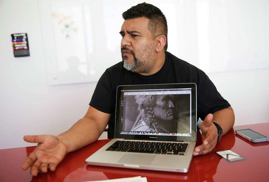 Lupe Mendez talks about his issues with a controversial textbook proposed for Mexican American studies on  Monday, July 18, 2016, in Houston. ( Elizabeth Conley / Houston Chronicle ) Photo: Elizabeth Conley, Staff / © 2016 Houston Chronicle