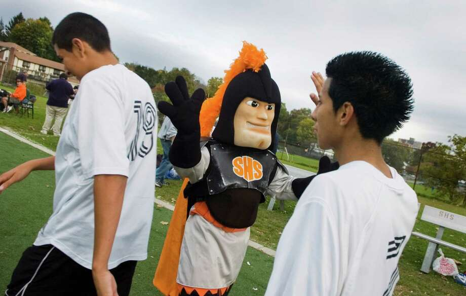 Stamford High's Black Knight mascot. Photo: File Photo / Hearst Connecticut Media