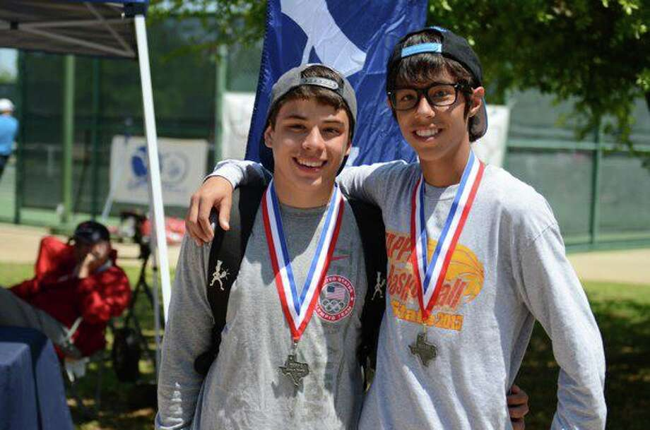 The PCA boys doubles team of Christian Cruz and David Landtroop finished second at the TAPPS State Tennis Championships. Photo: Courtesy Photo