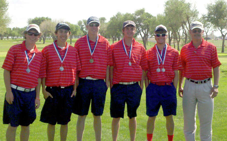 Members of the PHS boys golf team which finished second in District 3-4A to qualify for regionals are (from left) Harrison Alford, Tim Gonzales, Trent Kinkaid, Matt Jolly, Thomas Wirth and coach Mike Lewis. Photo: Courtesy Photo By Teresa Kinkaid