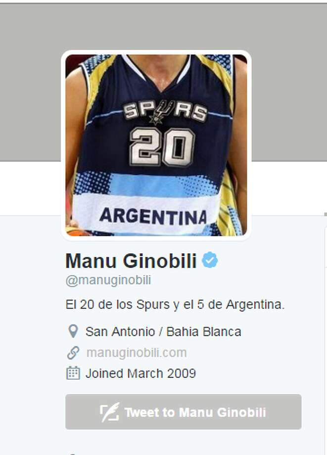 Manu Ginobili, Argentina BasketballKnown for his storied career with the San Antonio Spurs in the NBA, Ginobili will be going to his third Olympic games with the Argentine national team. Most of Ginobili's tweets are in Spanish, and so is his blog. The basketball star came back from a three-month hiatus in June and looks to be tweeting more than ever.  Photo: TWITTER.COM/AP