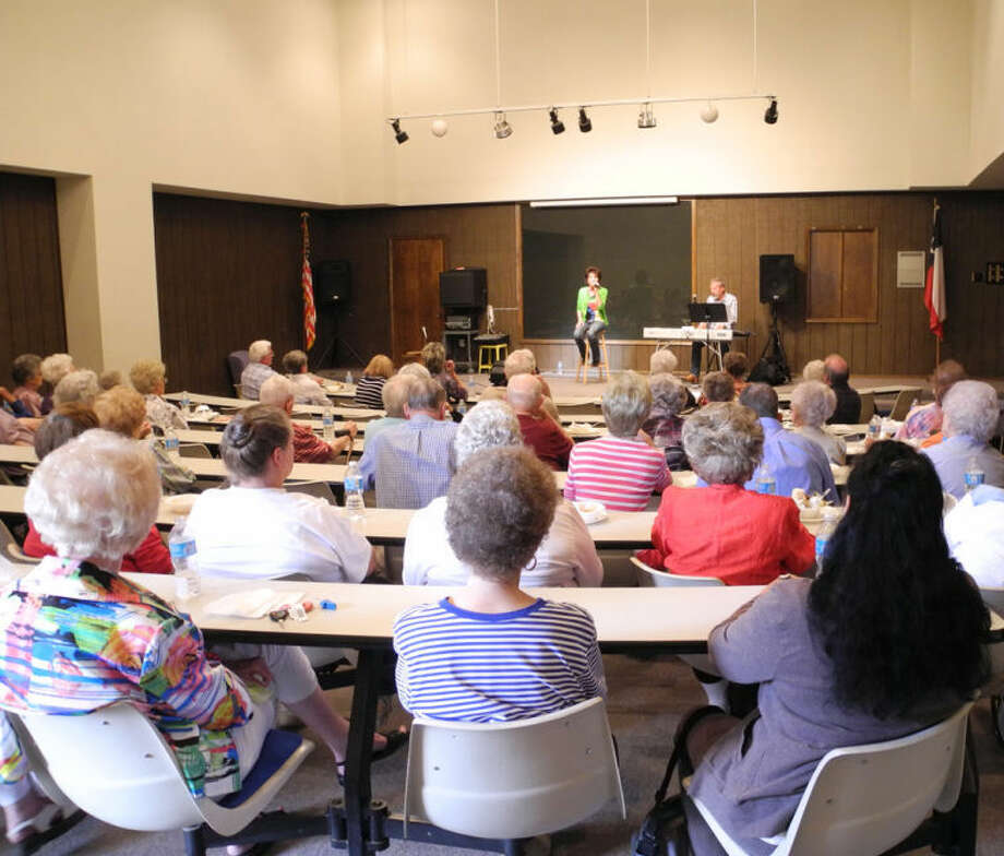 Around 70 senior citizens were entertained at the Museum of the Llano Estacado Tuesday by the musical team of vocalist Susan Browning and keyboard artist Martin Duckett. Photo: Gail M. Williams | Plainview Herald