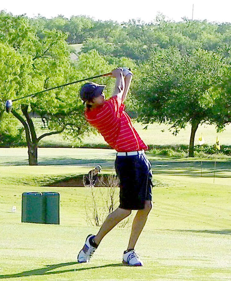 Plainview's Matt Jolly tees off during the Region I-4A Golf Tournament at Diamond Back Golf Course in Abilene. Jolly and the Bulldogs finished in sixth place out of 16 teams. Photo: Courtesy Photo By Betsy Lewis