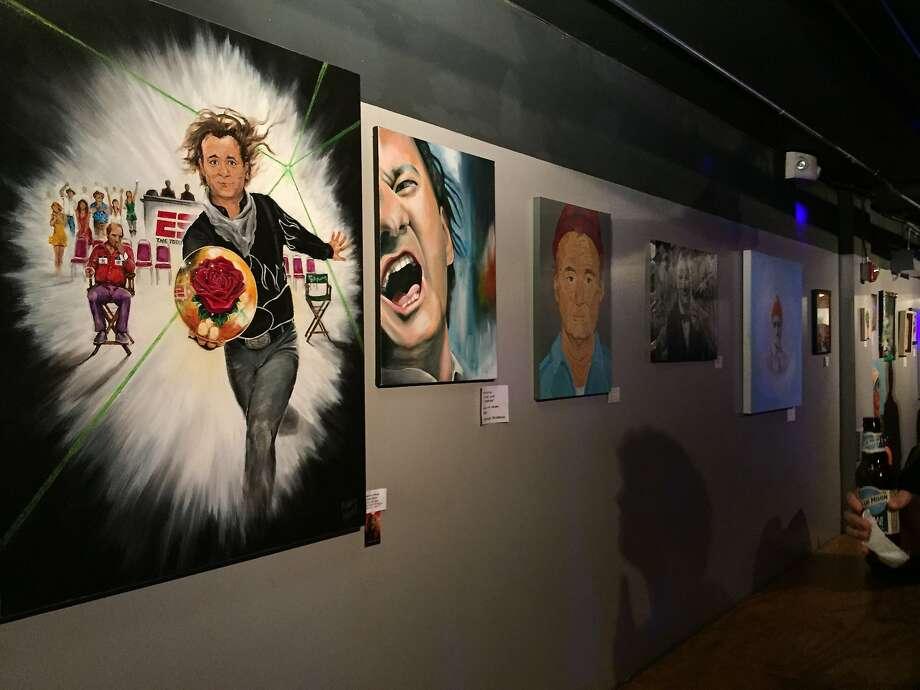 Artists from all over the country contributed work dedicated to and depicting Bill Murray Photo: Beth Spotswood