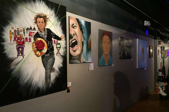 Artists from all over the country contributed work dedicated to and depicting Bill Murray