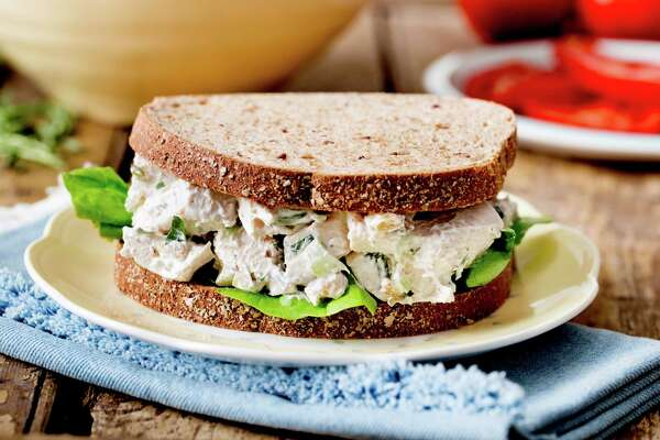 This version of chicken salad, the quintessential centerpiece of a Southern luncheon, borrows a technique from Chinese cooking — letting chicken breasts poach slowly inside a heavy, sealed pot as boiling water returns to room temperature.
