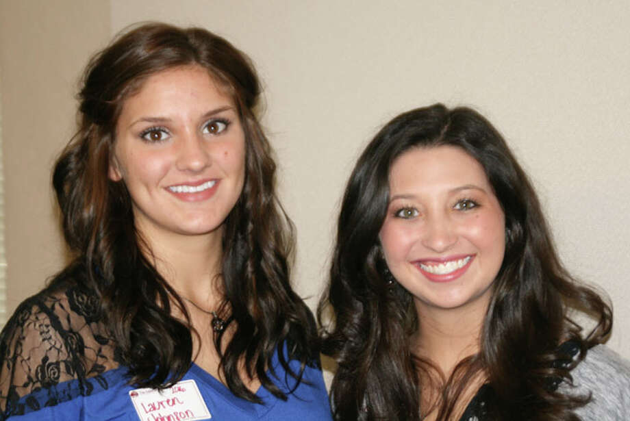 Courtesy PhotoLauren Johnson (left) and Kaitlin Hukill received the Central Plains A&M Club Scholarship.