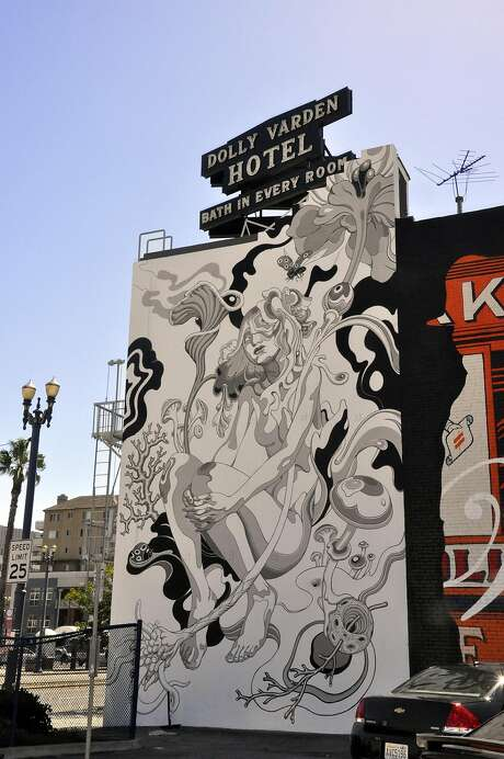 A mural at the Varden Hotel. Photo: Christine Delsol, Special To The Chronicle