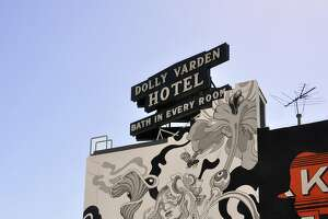 Mural painted for Pow Wow Long Beach at the Varden Hotel.