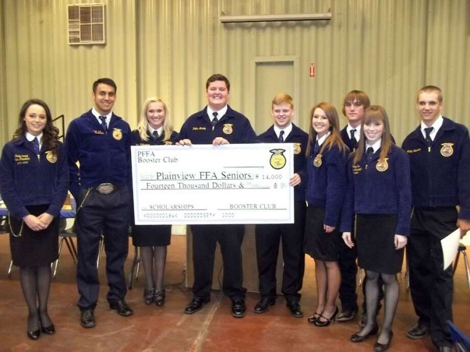 Courtesy PhotoHonorees at the Plainview FFA Banquet were (from left) Shelby Young, Hayden Walter, Emily Falkenberg, Zach Marley, Drew Dunlap, Channing Snipes, Kelyn King, Kristen True and Matt Dawson.